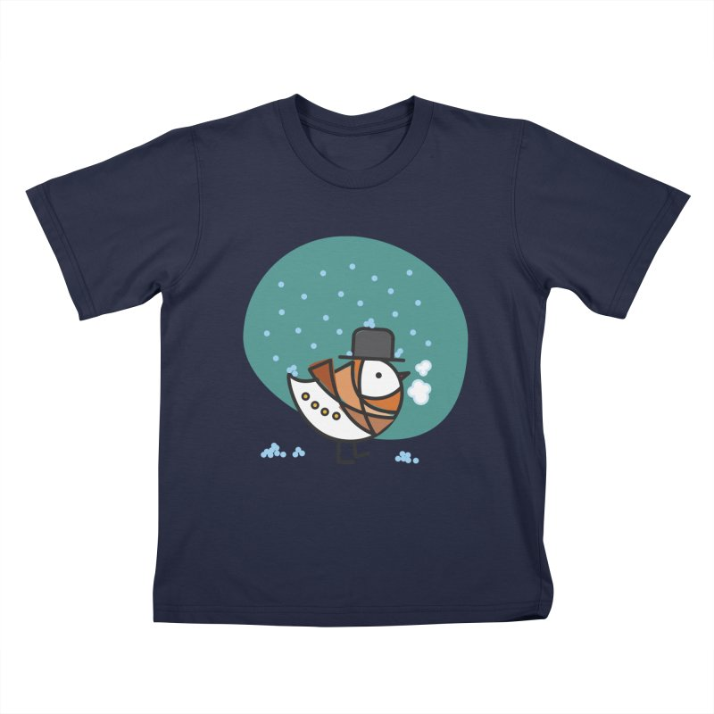 It's Snowing! It's Snowing! Kids T-Shirt by ElenaLosada Artist Shop