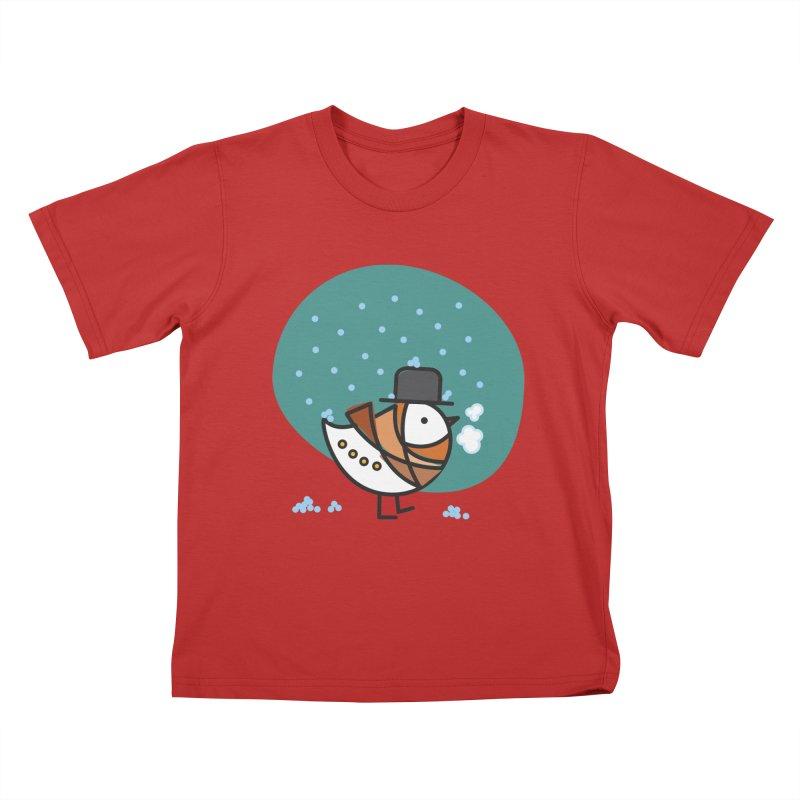 It's Snowing! It's Snowing! Kids T-Shirt by ElenaLosada Artist Shop