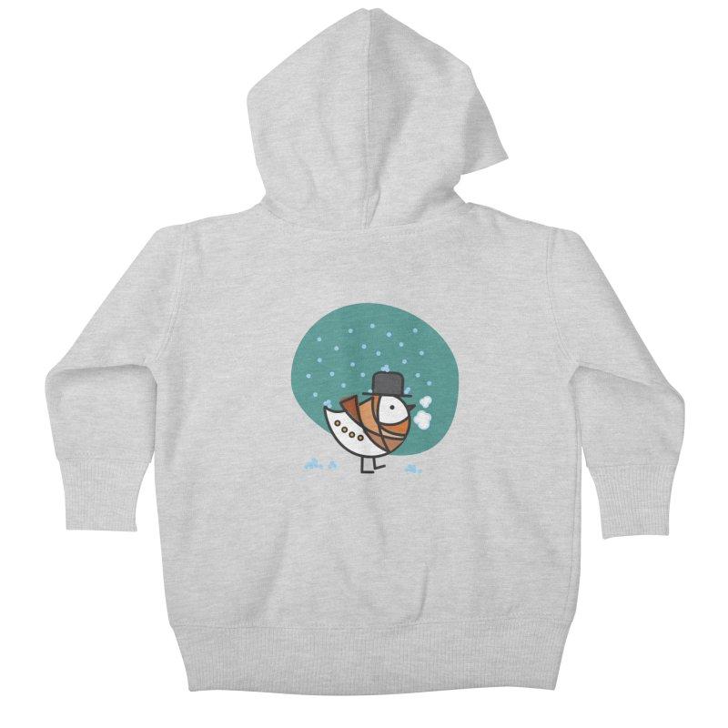 It's Snowing! It's Snowing! Kids Baby Zip-Up Hoody by ElenaLosada Artist Shop