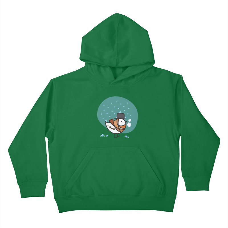 It's Snowing! It's Snowing! Kids Pullover Hoody by ElenaLosada Artist Shop