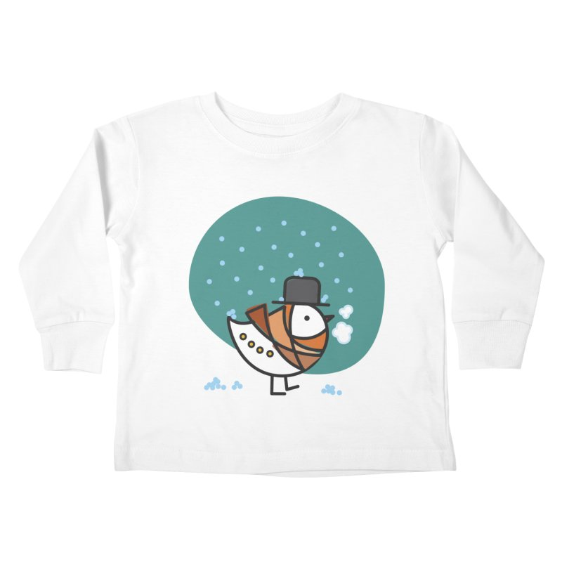 It's Snowing! It's Snowing! Kids Toddler Longsleeve T-Shirt by elenalosadaShop's Artist Shop