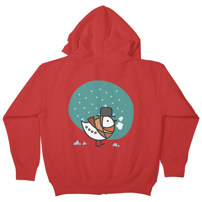It's Snowing! It's Snowing! Kids Zip-Up Hoody by elenalosadaShop's Artist Shop