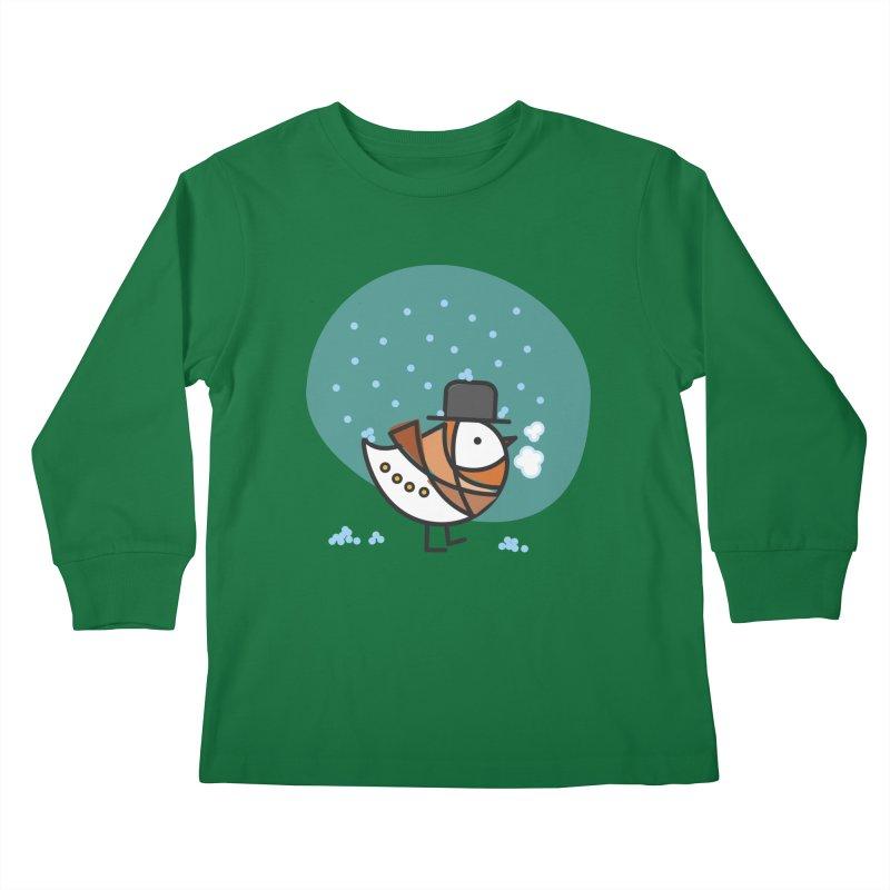 It's Snowing! It's Snowing! Kids Longsleeve T-Shirt by ElenaLosada Artist Shop