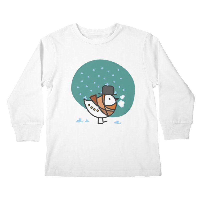 It's Snowing! It's Snowing! Kids Longsleeve T-Shirt by elenalosadaShop's Artist Shop