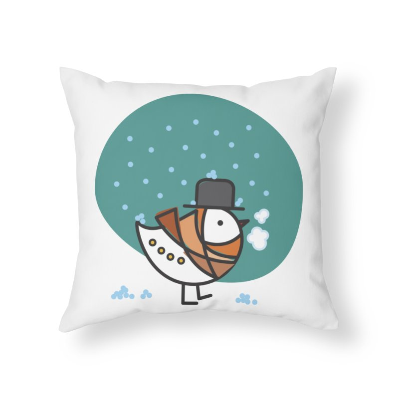 It's Snowing! It's Snowing! Home Throw Pillow by ElenaLosada Artist Shop