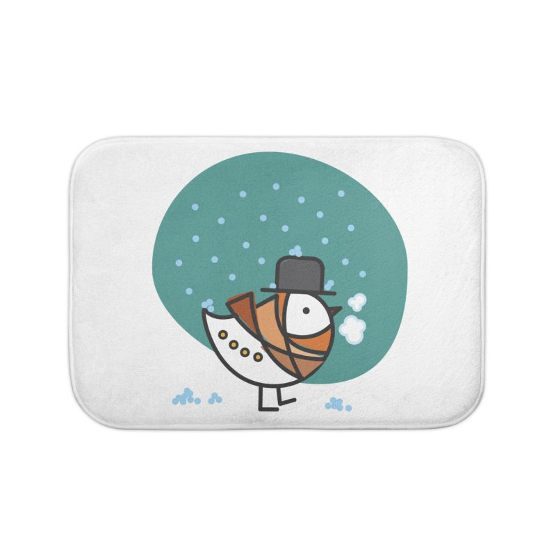 It's Snowing! It's Snowing! Home Bath Mat by ElenaLosada Artist Shop