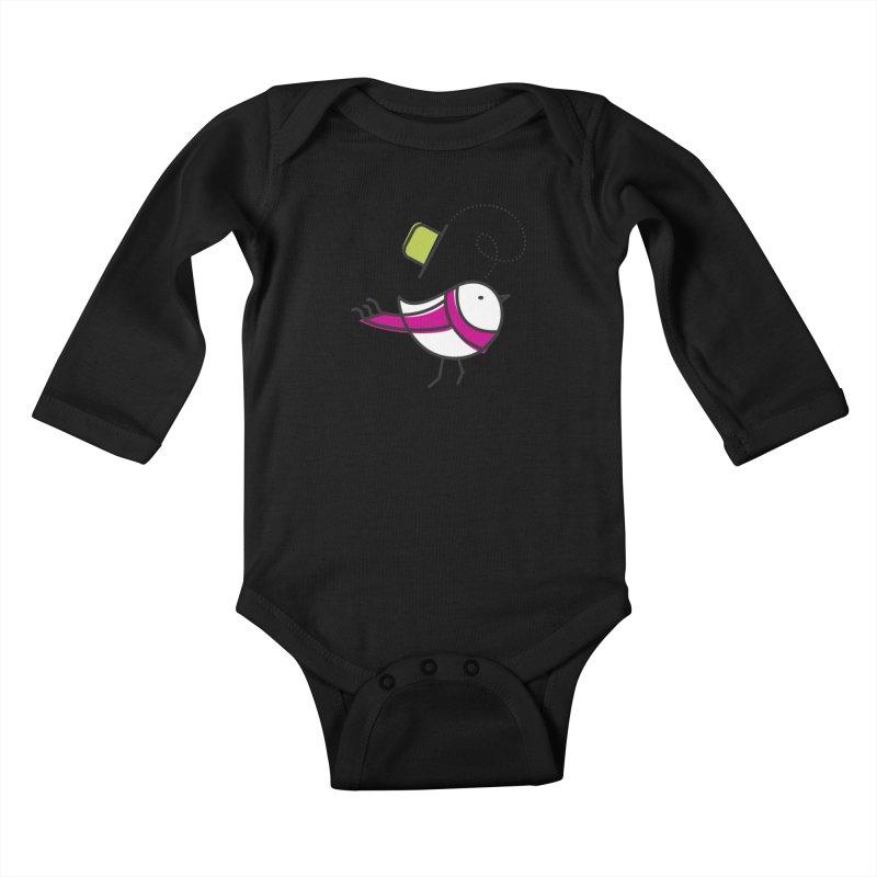 Ups! the wind... Kids Baby Longsleeve Bodysuit by elenalosadaShop's Artist Shop