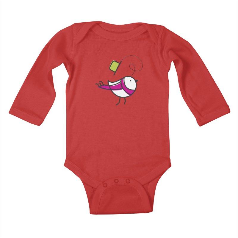 Ups! the wind... Kids Baby Longsleeve Bodysuit by ElenaLosada Artist Shop