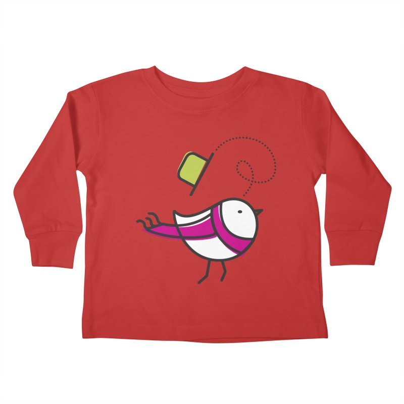 Ups! the wind... Kids Toddler Longsleeve T-Shirt by elenalosadaShop's Artist Shop