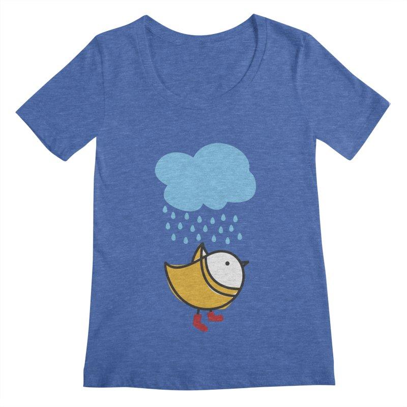 It's raining! Women's Scoopneck by ElenaLosada Artist Shop