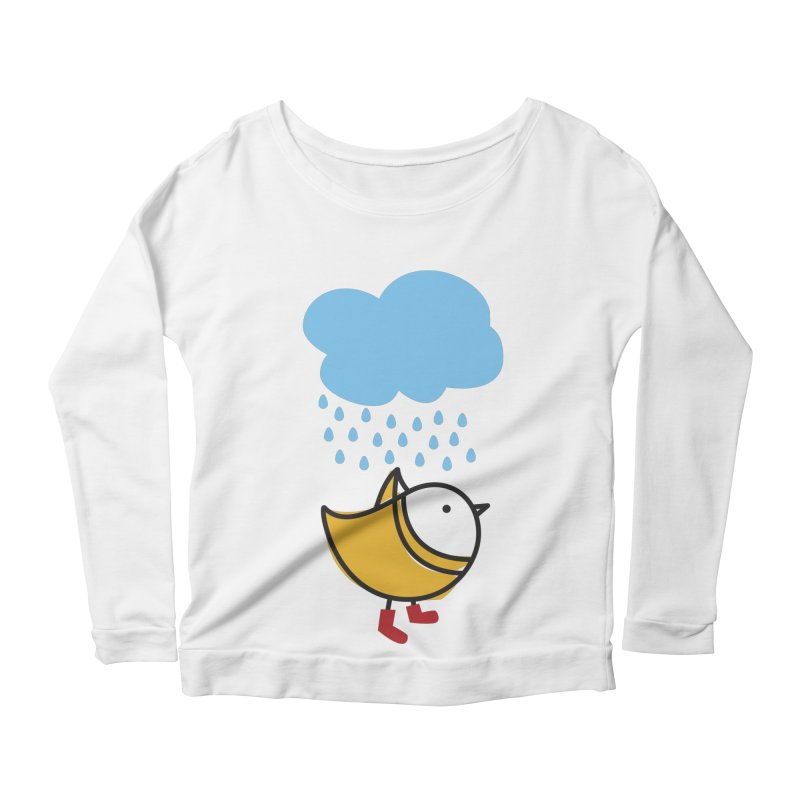 It's raining! Women's Longsleeve Scoopneck  by ElenaLosada Artist Shop