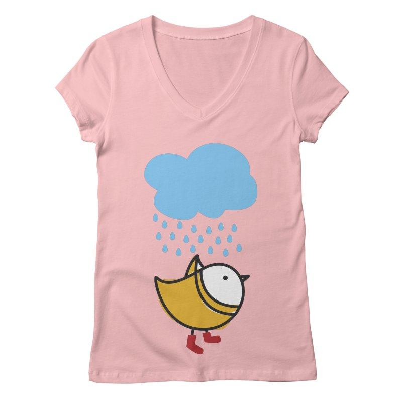 It's raining! Women's V-Neck by ElenaLosada Artist Shop