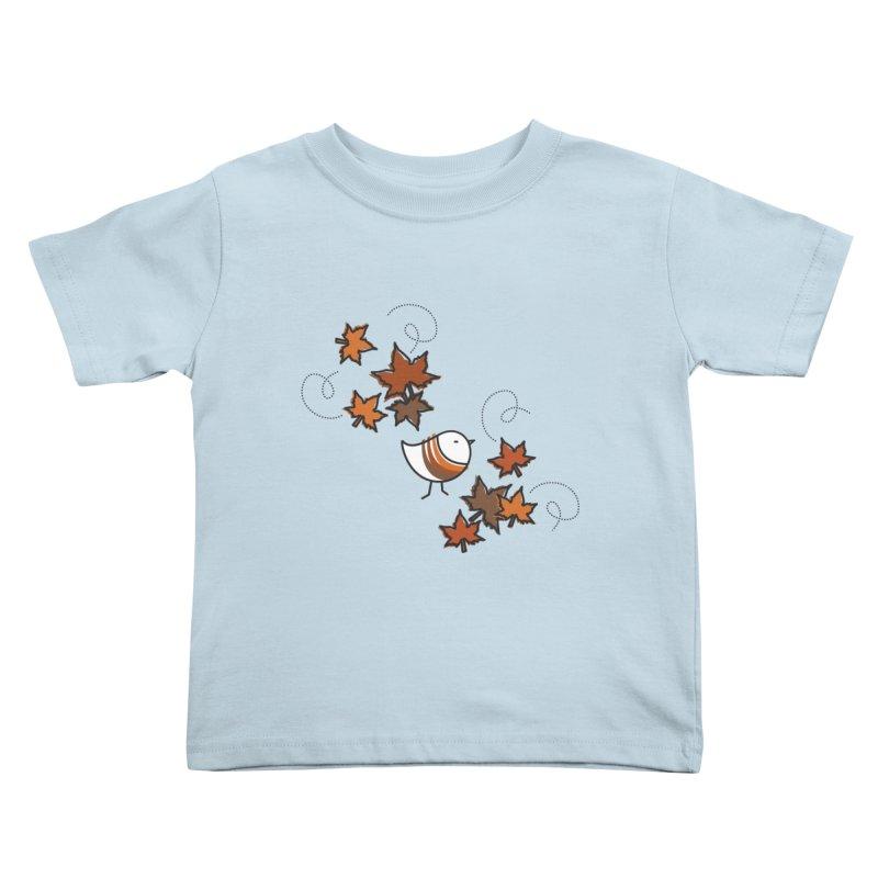 Autumn's bird Kids Toddler T-Shirt by ElenaLosada Artist Shop