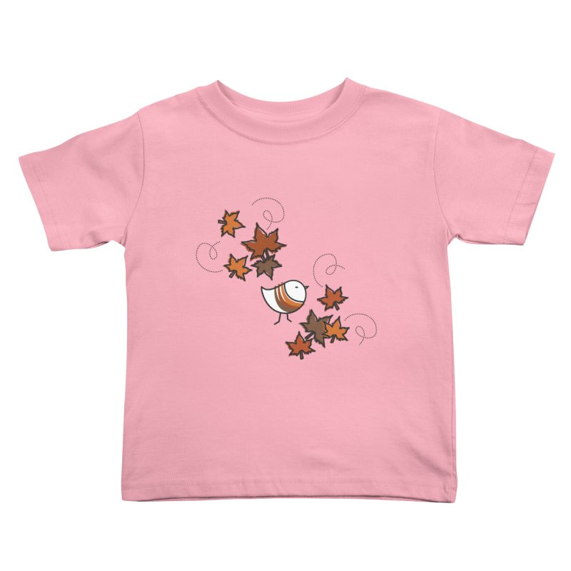Autumn's bird Kids Toddler T-Shirt by elenalosadaShop's Artist Shop