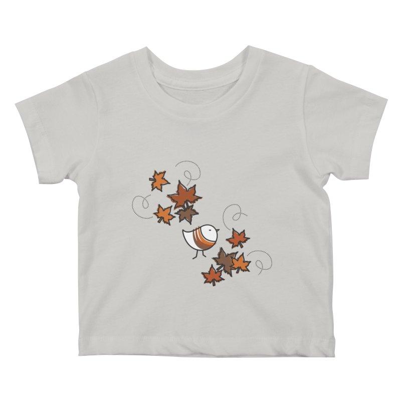 Autumn's bird Kids Baby T-Shirt by ElenaLosada Artist Shop