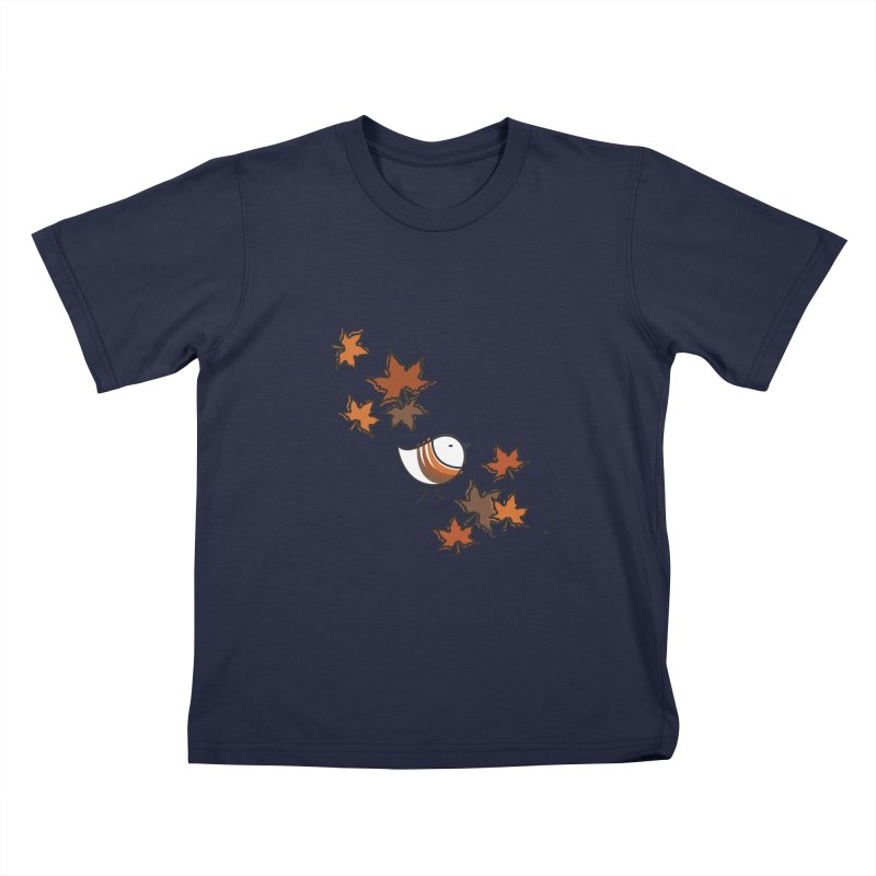 Autumn's bird Kids T-Shirt by ElenaLosada Artist Shop