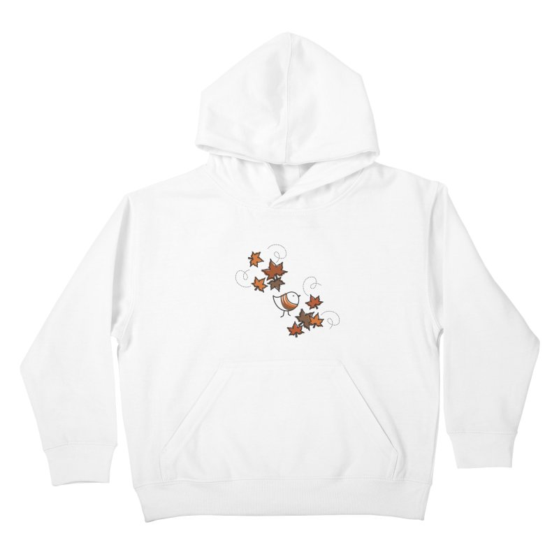 Autumn's bird Kids Pullover Hoody by ElenaLosada Artist Shop