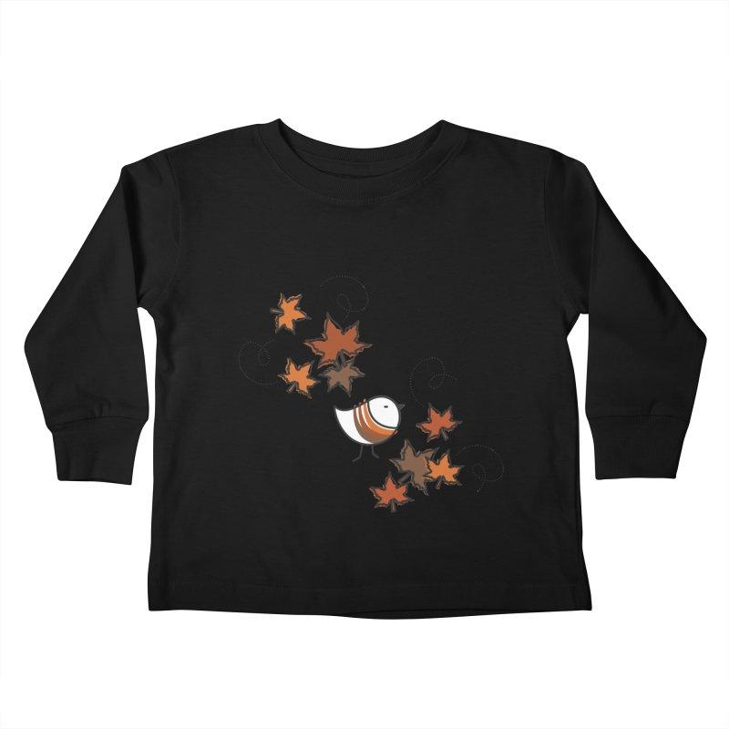 Autumn's bird Kids Toddler Longsleeve T-Shirt by ElenaLosada Artist Shop