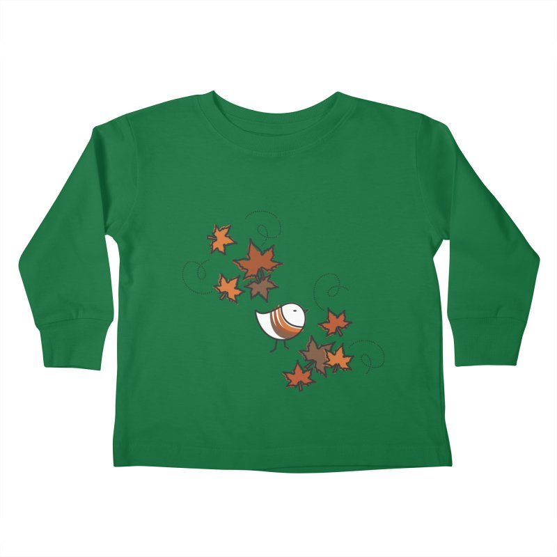 Autumn's bird Kids Toddler Longsleeve T-Shirt by elenalosadaShop's Artist Shop