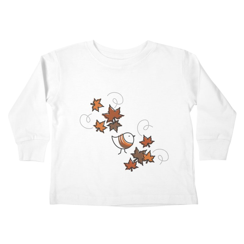Autumn's bird Kids Toddler Longsleeve T-Shirt by ElenaLosada Artist Shop