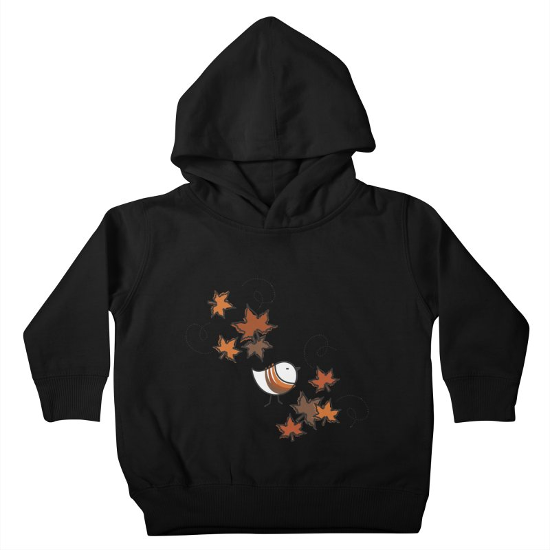 Autumn's bird Kids Toddler Pullover Hoody by ElenaLosada Artist Shop