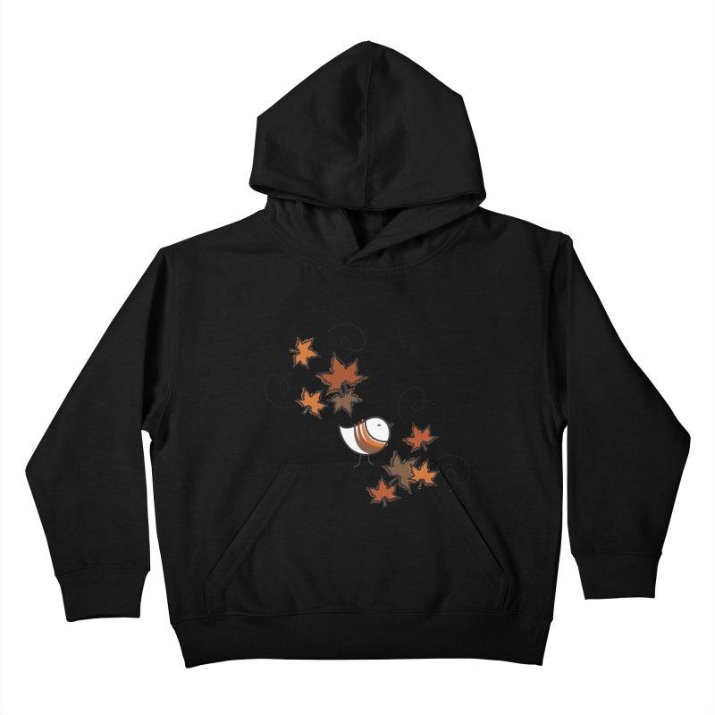 Autumn's bird Kids Pullover Hoody by ElenaLosada Artist Shop