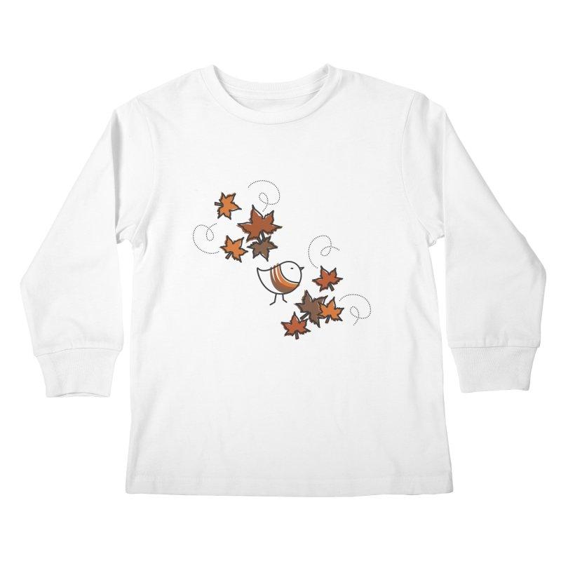 Autumn's bird Kids Longsleeve T-Shirt by ElenaLosada Artist Shop