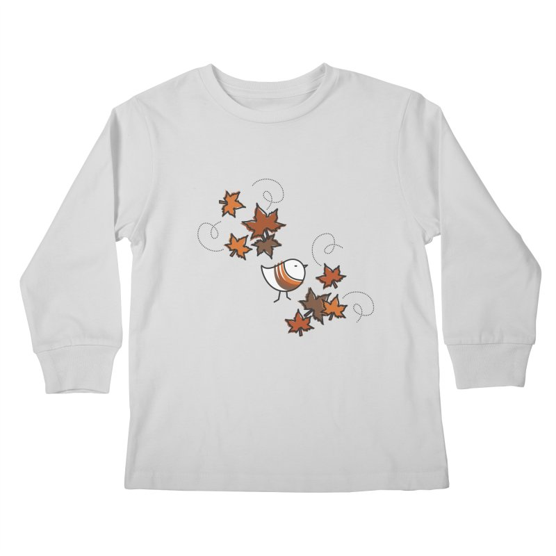 Autumn's bird Kids Longsleeve T-Shirt by elenalosadaShop's Artist Shop