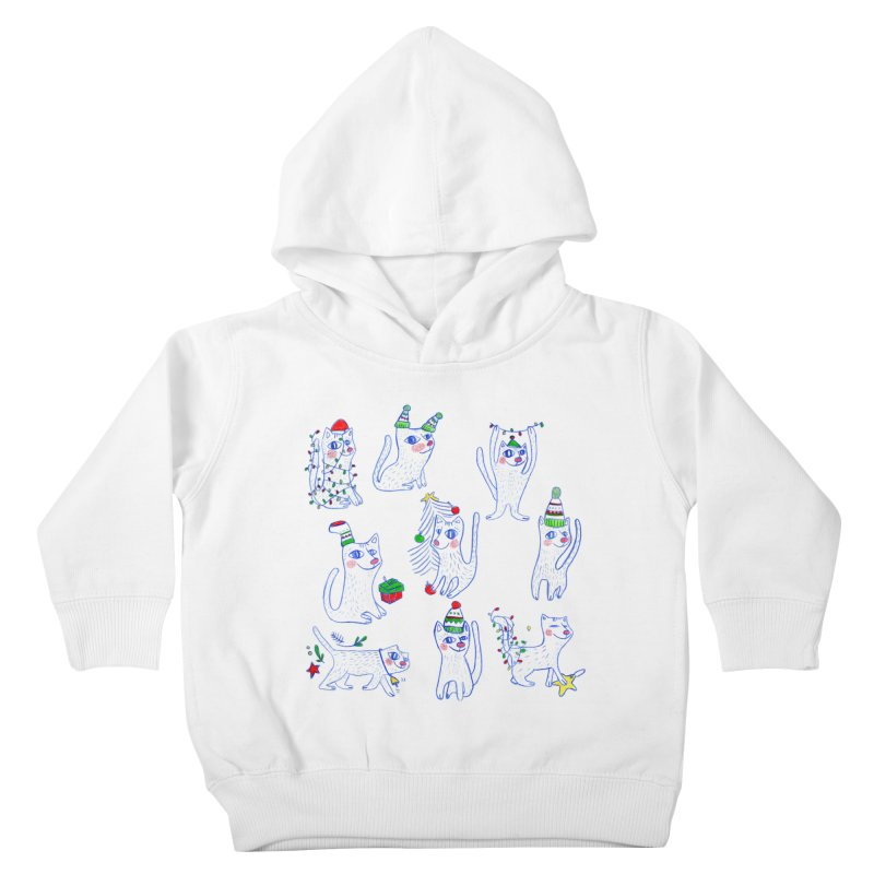 Christmas Cats Kids Toddler Pullover Hoody by ElenaLosada Artist Shop