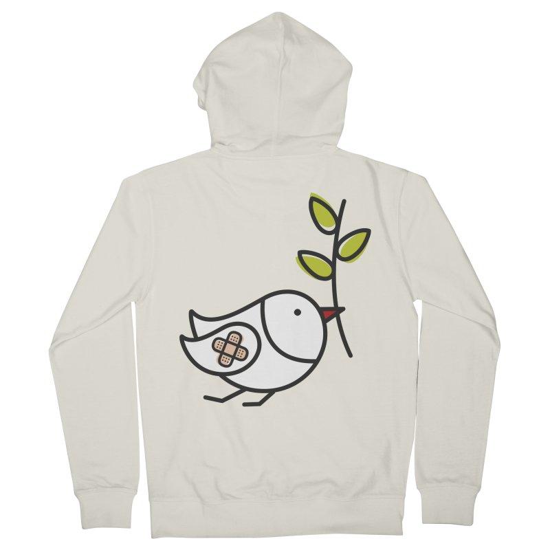 Peace Men's Zip-Up Hoody by ElenaLosada Artist Shop