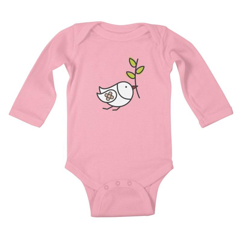 Peace Kids Baby Longsleeve Bodysuit by ElenaLosada Artist Shop