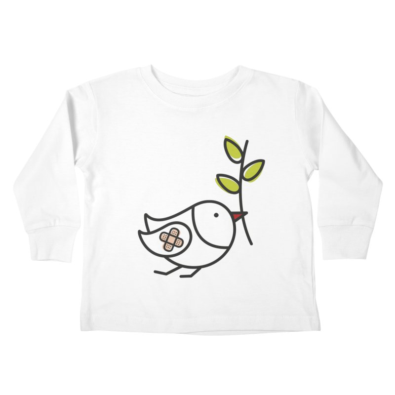 Peace Kids Toddler Longsleeve T-Shirt by ElenaLosada Artist Shop