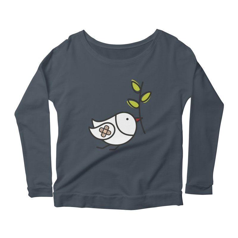 Peace Women's Longsleeve Scoopneck  by elenalosadaShop's Artist Shop
