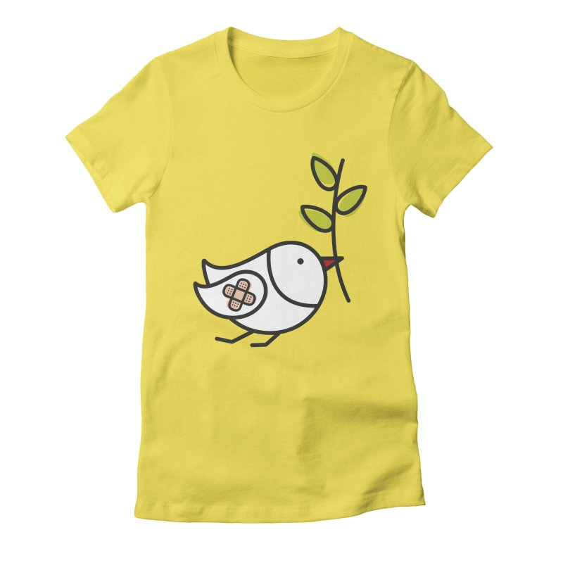 Peace Women's Fitted T-Shirt by elenalosadaShop's Artist Shop