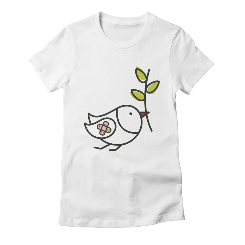 Peace Women's Fitted T-Shirt by ElenaLosada Artist Shop
