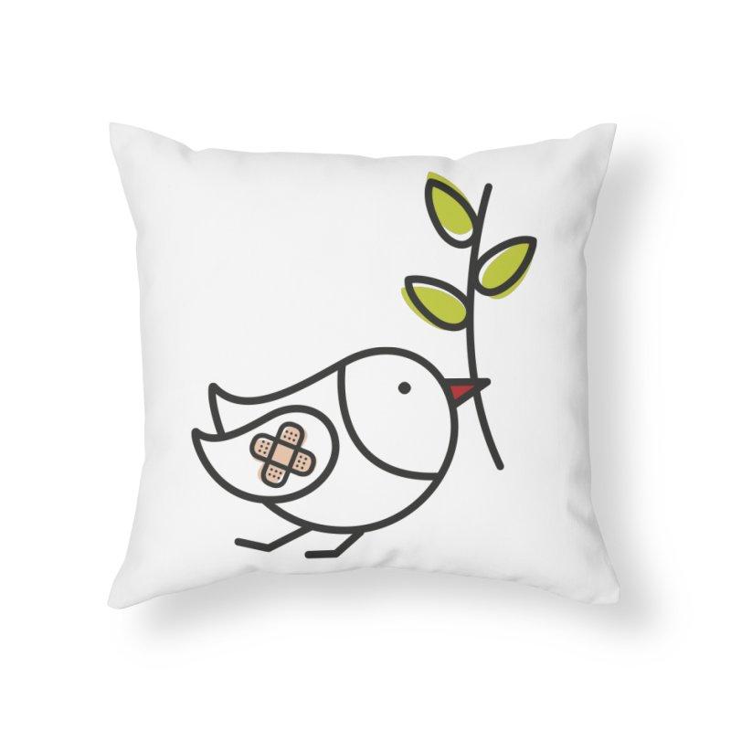 Peace Home Throw Pillow by elenalosadaShop's Artist Shop