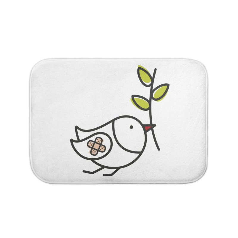 Peace Home Bath Mat by ElenaLosada Artist Shop