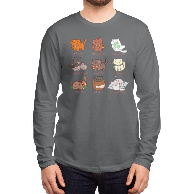 Potter cats Men's Longsleeve T-Shirt by Elentori