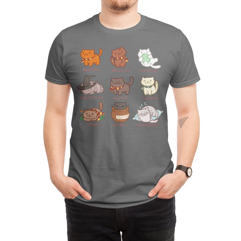 Potter cats Men's T-Shirt by Elentori