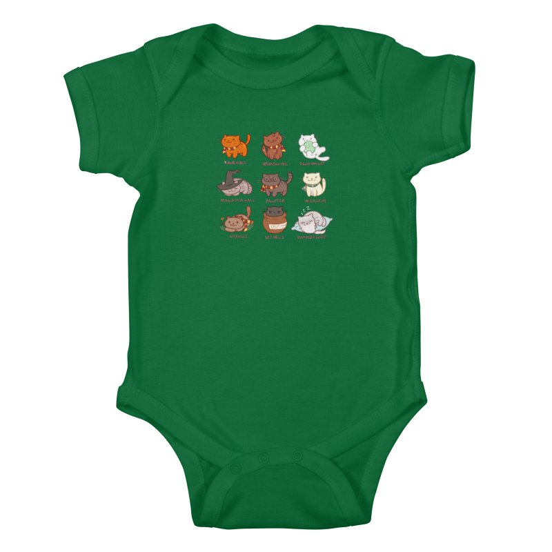 Potter cats Kids Baby Bodysuit by Elentori