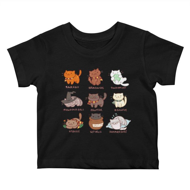 Potter cats Kids Baby T-Shirt by Elentori