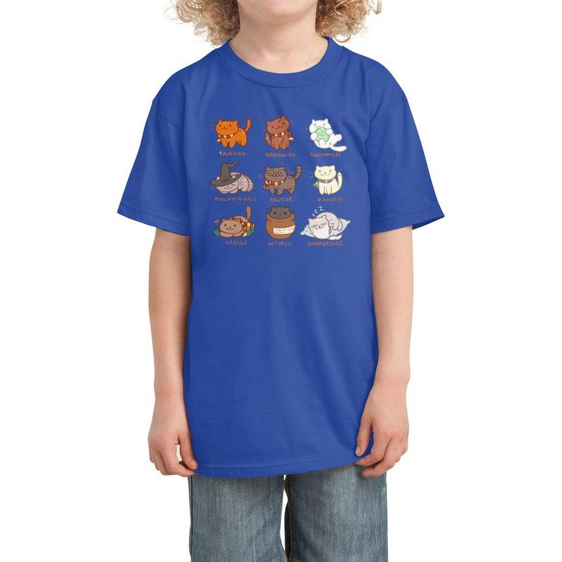 Potter cats Kids T-Shirt by Elentori
