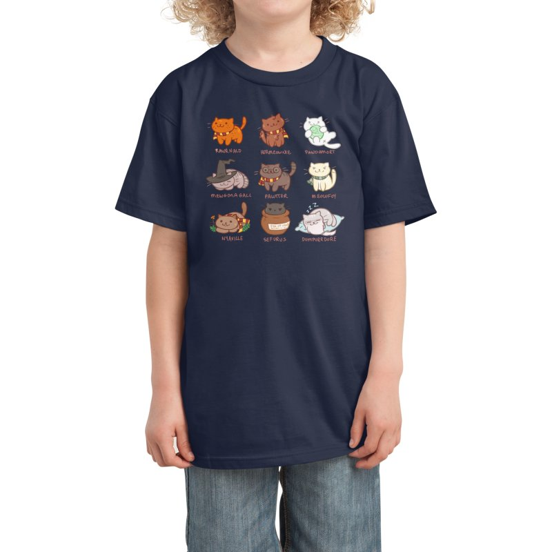 Potter cats Kids T-Shirt by Elentori