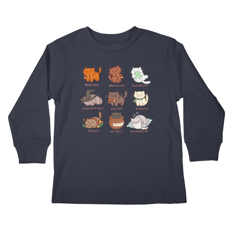 Potter cats Kids Longsleeve T-Shirt by Elentori