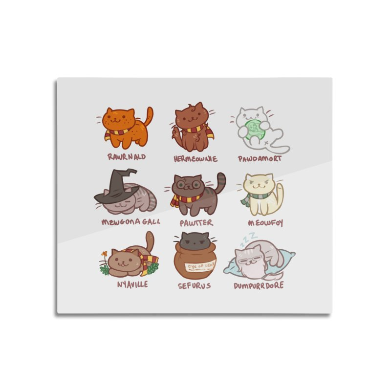 Potter cats Home Mounted Aluminum Print by Elentori