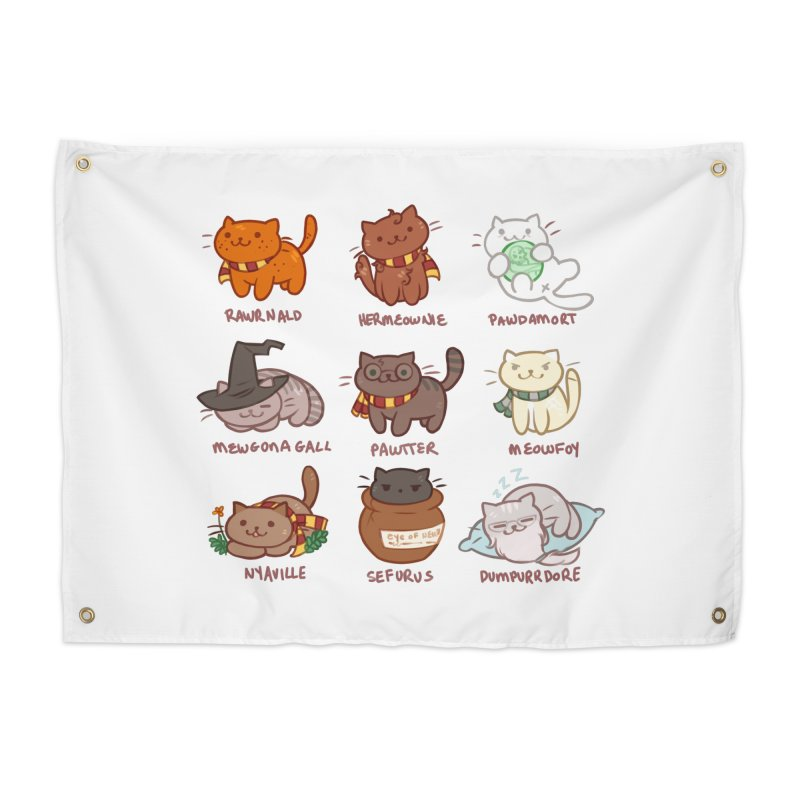 Potter cats Home Tapestry by Elentori