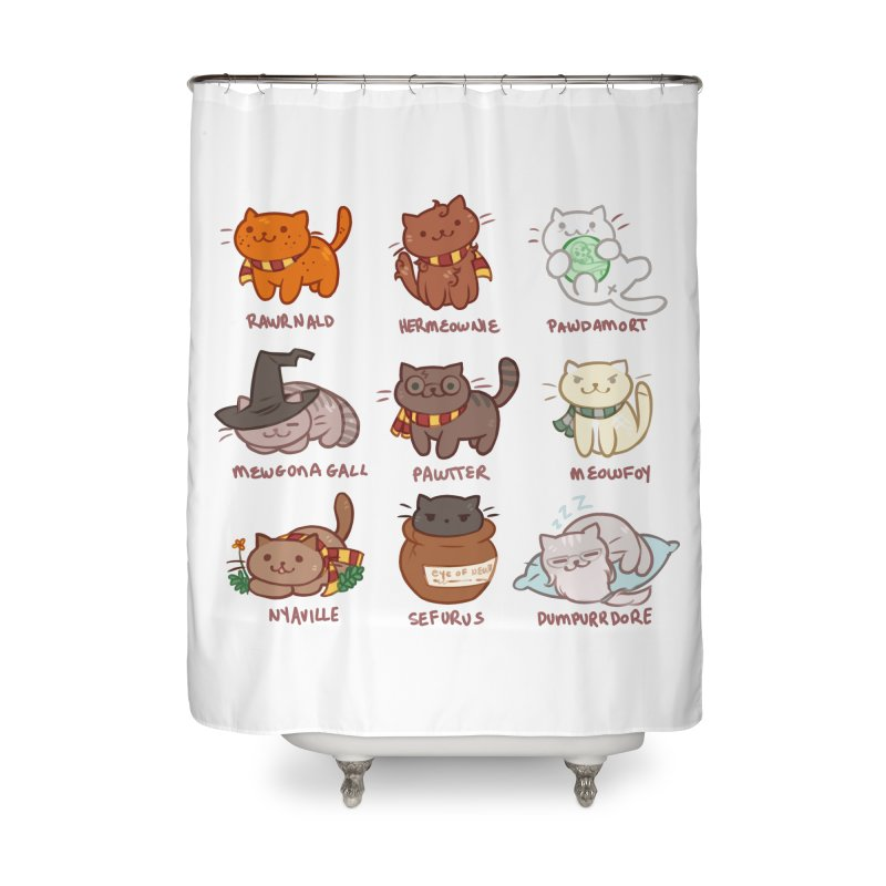 Potter cats Home Shower Curtain by Elentori