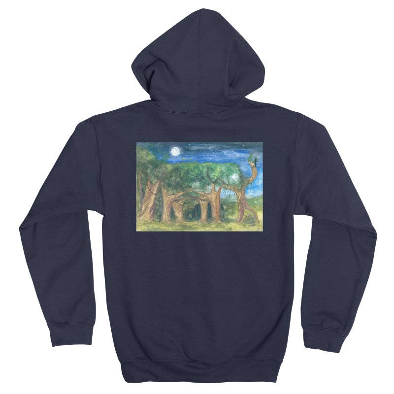 Elephant Forest Women's Zip-Up Hoody by Trunks & Leaves' Artist Shop