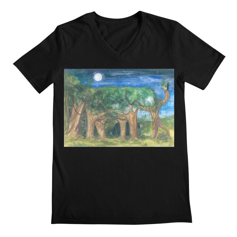 Elephant Forest Men's V-Neck by Trunks & Leaves' Artist Shop