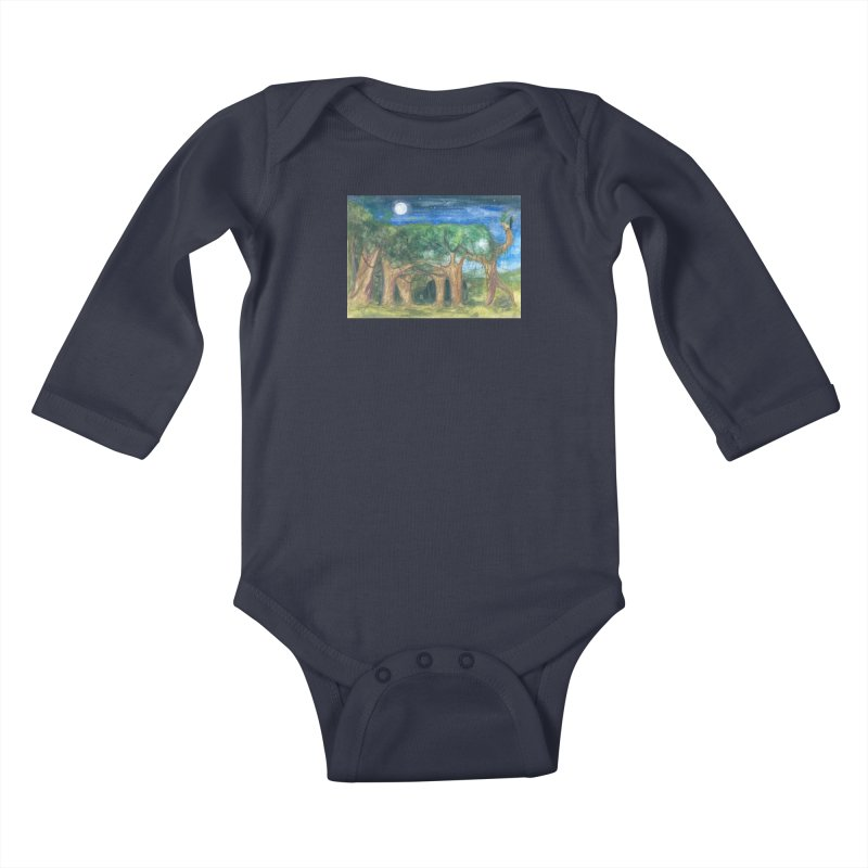 Elephant Forest Kids Baby Longsleeve Bodysuit by Trunks & Leaves' Artist Shop